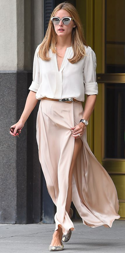 EXCLUSIVE: Olivia Palermo seen wearing a light pink long skirt in Brooklyn,New York Pictured: Olivia Palermo Ref: SPL1084248  210715   EXCLUSIVE Picture by: Splash News Splash News and Pictures Los Angeles:310-821-2666 New York:	212-619-2666 London:	870-934-2666 photodesk@splashnews.com